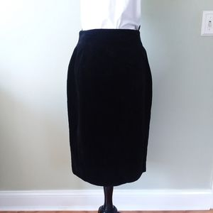 Rodier Black Velvet pencil skirt